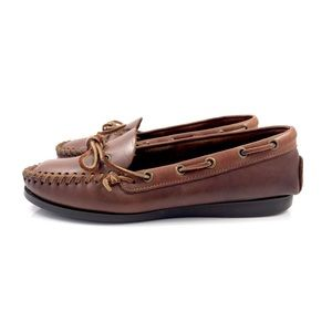 Vintage SIOUX MOX brown leather moccasins
